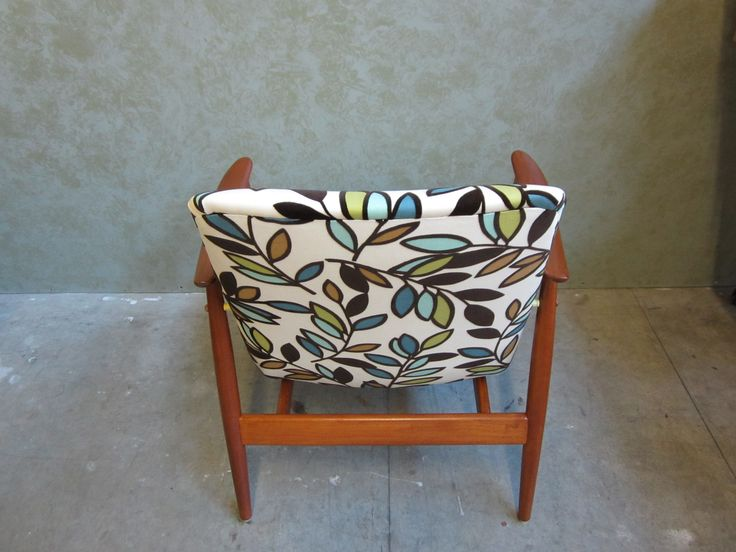 #accent #chair #repaired #refinished & #reupholstered by AM Furniture Finishing. Back view