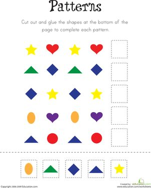 Kindergarten Patterns Worksheets: Pattern Practice!