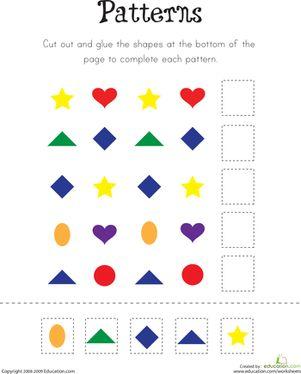 Kindergarten Patterns Worksheets: Pattern Practice!