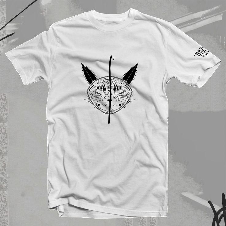 Koszulka BRZYDKI KOT - bawełna biała unisex