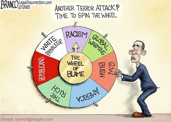 Terror Attack Blame | Political Cartoon | A.F.Branco | Comically Incorrect