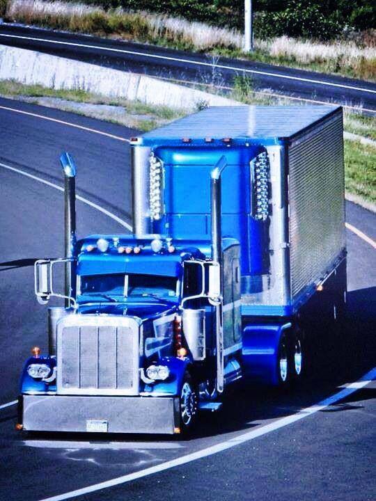 Mack Truck Cat Walk : Blue peterbilt w reefer trucks pinterest