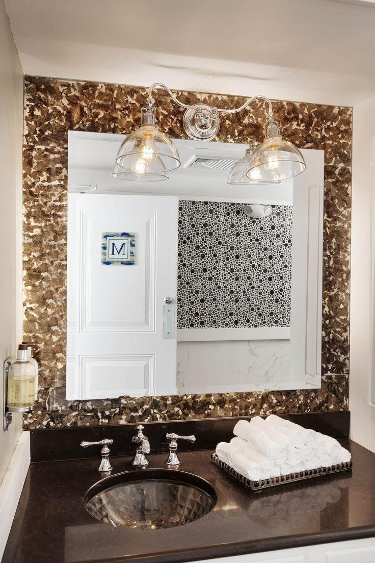 Wequasett Inn Men S Spa Bathroom Custom Glass Back Splash Photo Greg Premu Www