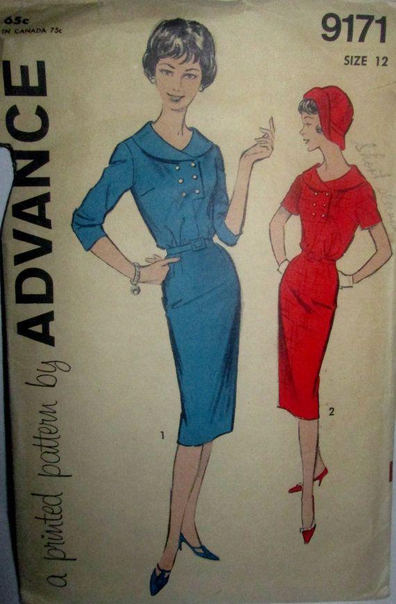 Advance 9171 Womens One Piece Dress Sewing Pattern by Denisecraft, $12.99