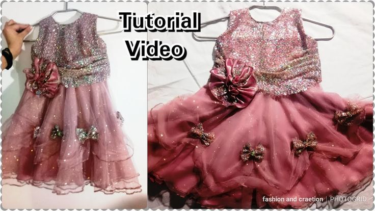 How To Make Beautiful Frock For Girls/GIRLS FROCK DESIGNING/TUTORIAL VID...