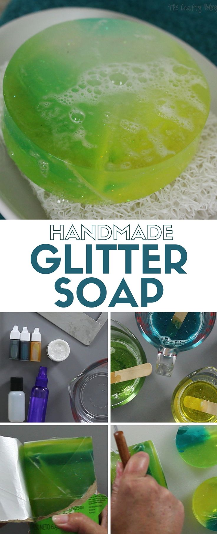 Learn how to make handmade soap with this easy to follow tutorial and video. Add glitter and your favorite colors and scents for the perfect DIY gift.