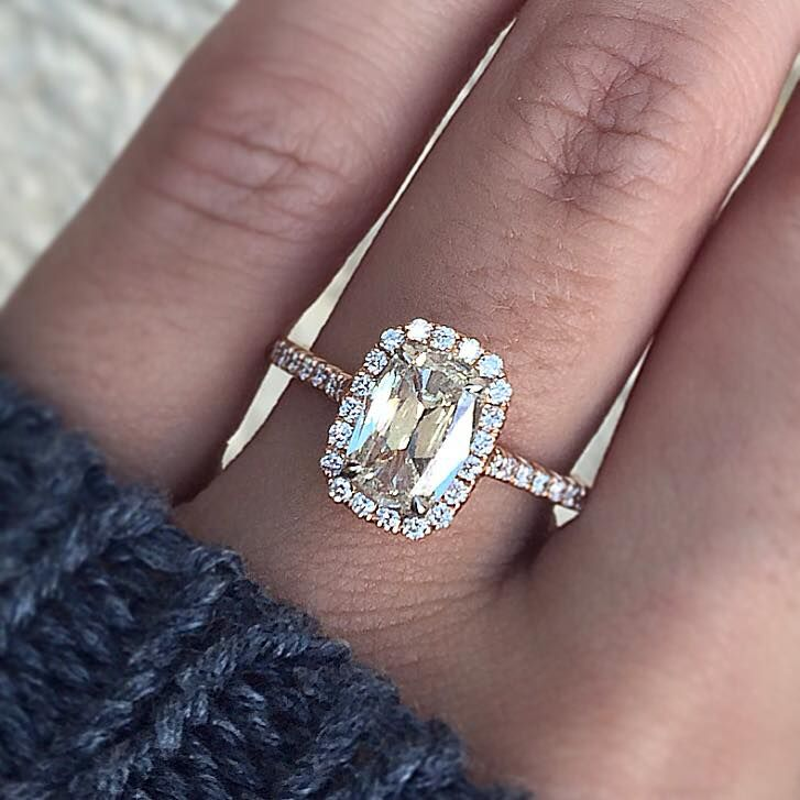 Dazzle Yourself In This Stunning Henri Daussi Engagement Ring It Features A 113ct Cushion
