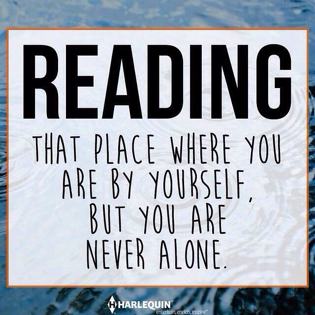 Reading is my happy place https://www.pinterest.com/lilyslibrary/ Never Alone