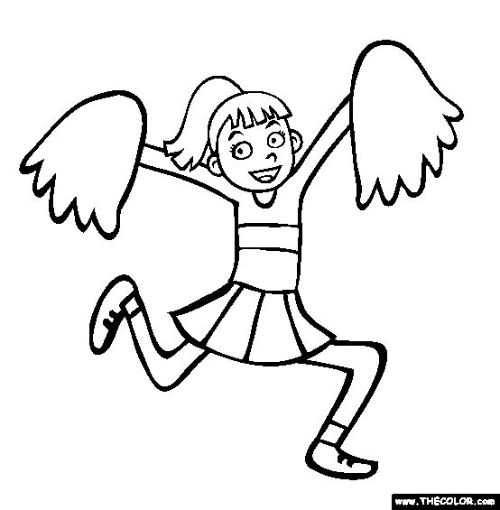 20 best cheerleading coloring pages images on Pinterest Coloring - best of lego sports coloring pages