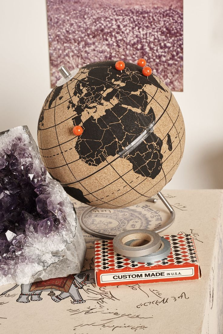 World Map Cork Globe - Earthbound Trading Company