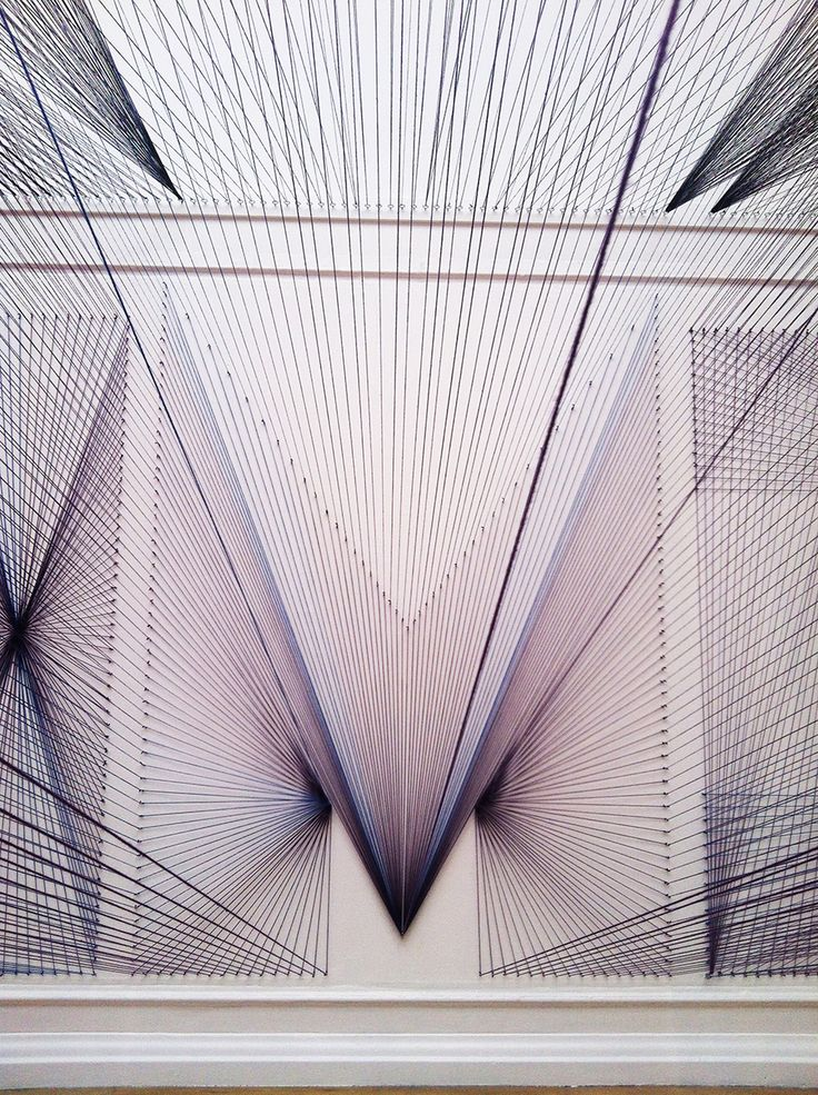 SOUTH LONDON GALLERY, installation by Pae White. The tonal threads add another element of depth to the piece.