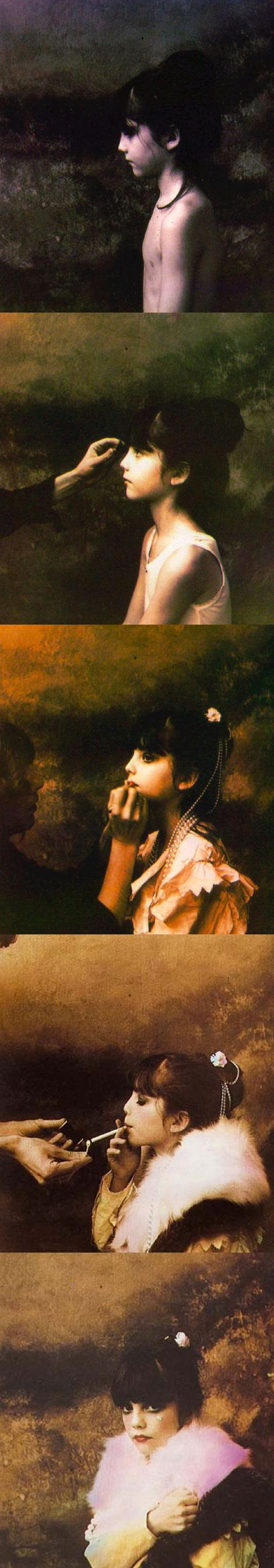 Jan Saudek - Little Ilaria's Makeup