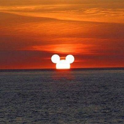 Mickey Mouse sunset ;)                                                                                                                                                      More