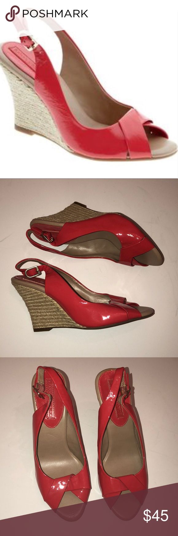 Banana republic orange wedges size 8 women's Gently used   No stains or holes  Super comfortable  Great for spring coming up Banana Republic Shoes Wedges