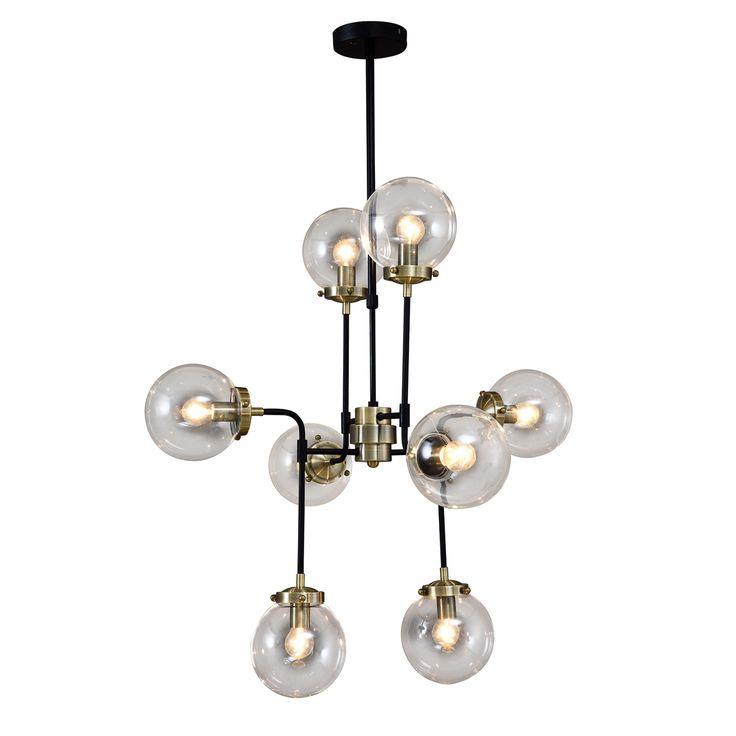Lampa sufitowa ODELIA 8 Industrialna Loft czarny antyczny brąz Italux V1009-8