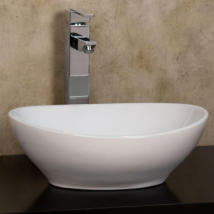 Quinn Oval Vessel Sink White Signature Hardware