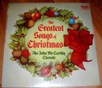 John McCarthy Chorale The Greatest Songs Of Christmas RCA R114285 Vinyl LP  VG++