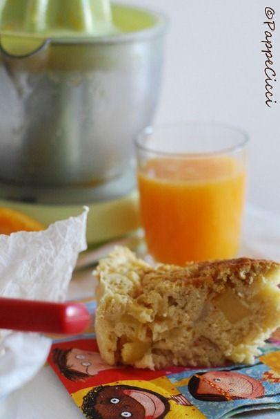 pappa & cicci: Progetto colazione sana #3             Torta di mele veloce e senza grassi