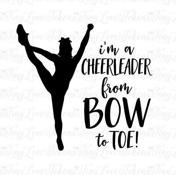 im a cheerleader svg design for silhouette and by tinylovetokens
