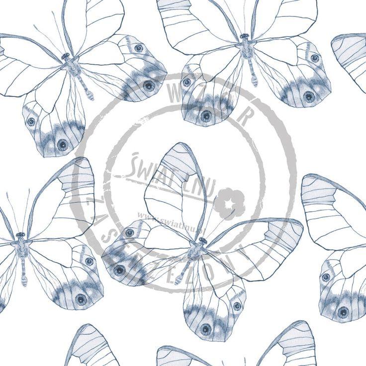 Kraina czarów to  magiczne wzory Pracowni Druku. Naturalne motywy: motyle, krople deszczu, drobne kwiaty lnu, niezapominajki to trendy na 2017 rok.    Motyle, butterfly   #pracowniadruku  #trendy2017