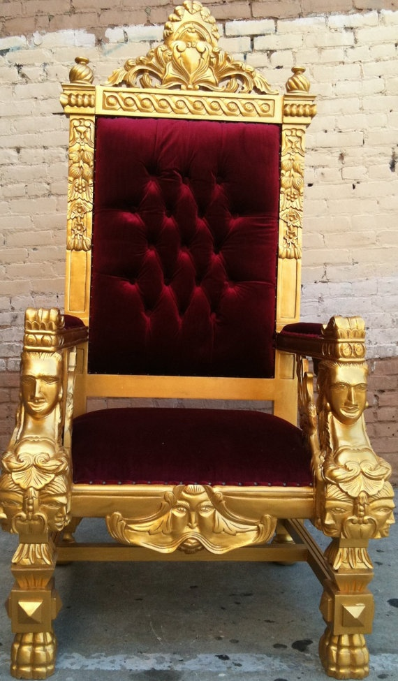 gold u0026 blood red king ralphs chair queen throne by