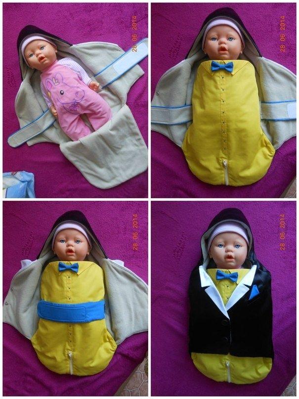 Конверт-смокинг для новорожденного интеллигента (Diy)