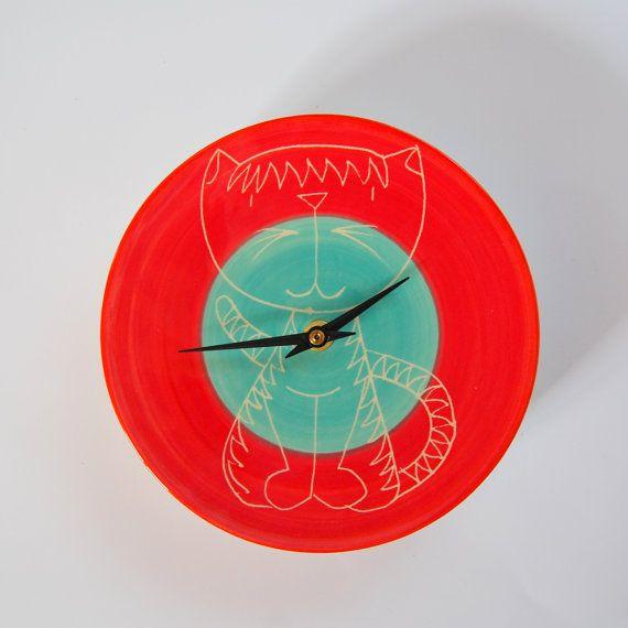 Ceramic Wall Clock Clay Wall Clock Pottery Wall Clock Ceramics