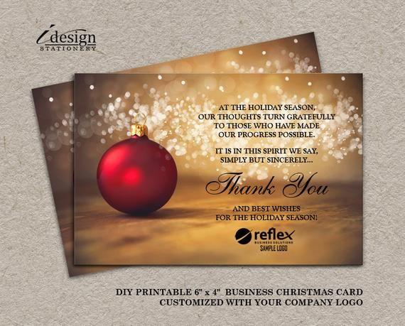 Business Christmas Card Printable Business Holiday Cards