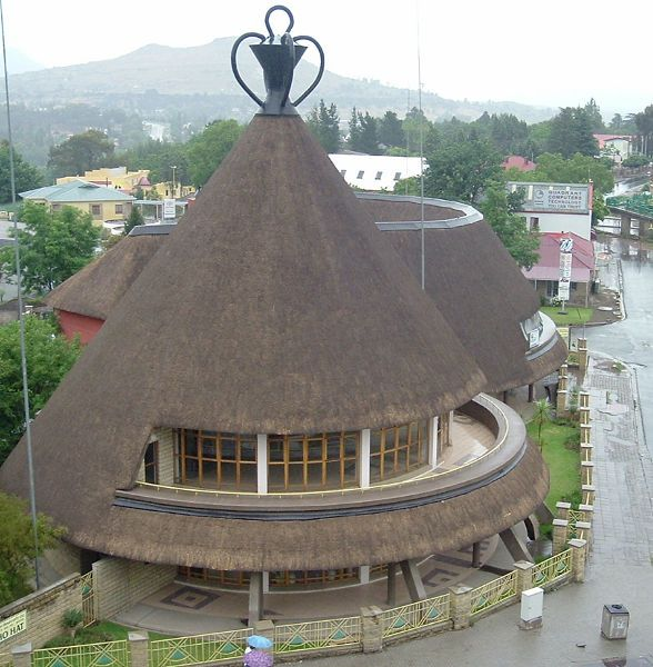 A Basutu hat style hotel in the heart of Maseru, Lesotho, the little country surrounded by South Africa.