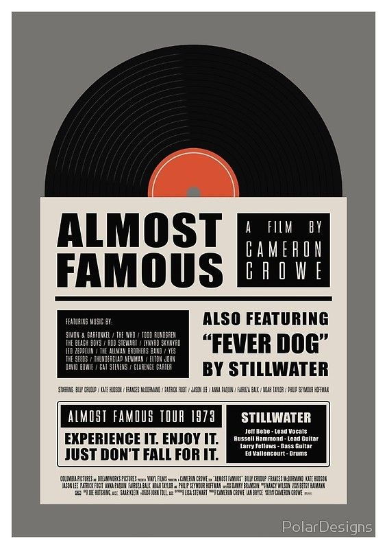 #AlmostFamous #minimal #film #movie #illustration #alternative #poster #graphicart #followforfollow #follow4follow