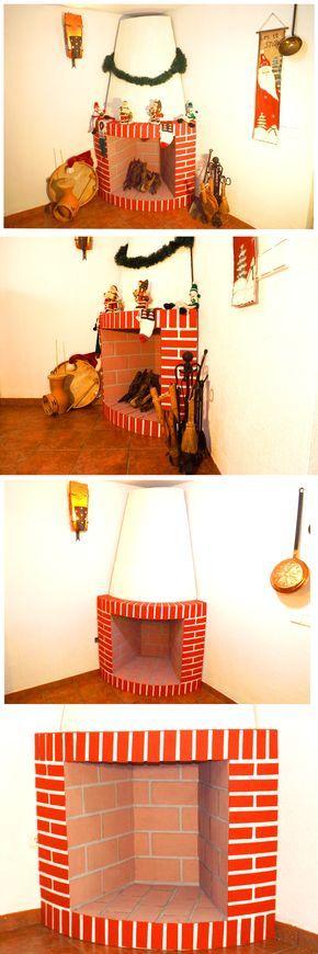 ¡No renuncies a tener tu propia chimenea en casa! Puedes elaborar una de cartón tan chula como esta. ¡Un trabajo impresionante!