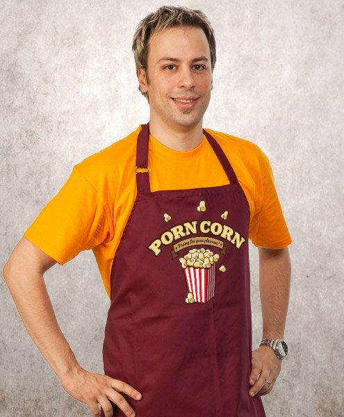 Funny Apron PopCorn Cooking Apron Husband Apron by store365