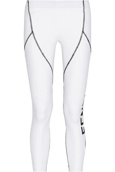 Fendi - Coated Stretch Leggings - White - IT40