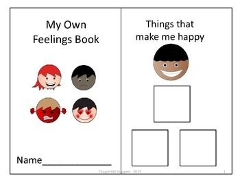 This is an interactive child-centered feelings book originally created with Smarty Symbols and converted to .pdf.  The book focuses on three feelings and the child selects pictures of items or events that make him feel happy, sad, or mad.  The child can select from 35 pictures.