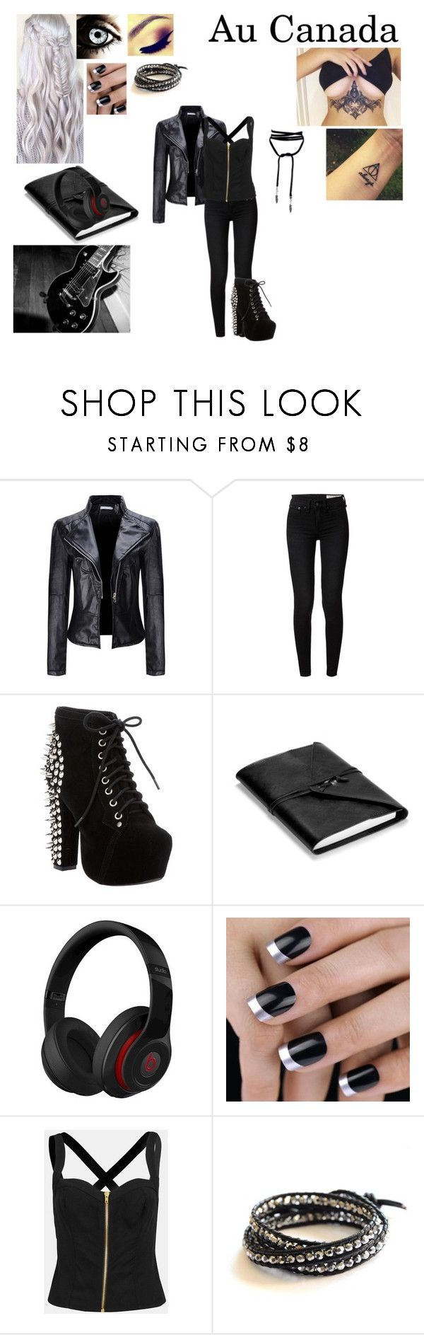 """Revenge tome I : Louana (Canada)"" by camille-93200 ❤ liked on Polyvore featuring WithChic, rag & bone, Jeffrey Campbell, Aspinal of London, Topshop and BijouxBar by Vivien Frank"
