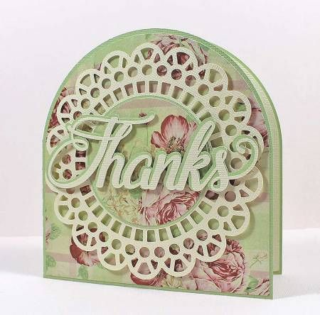 Doily Thanks Card