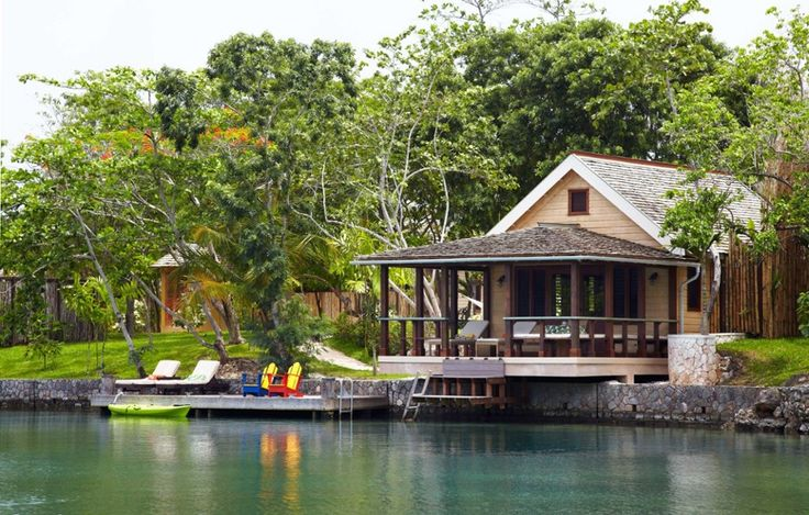 The 18-acre resort is built into its tropical surroundings on Jamaica's north coast.