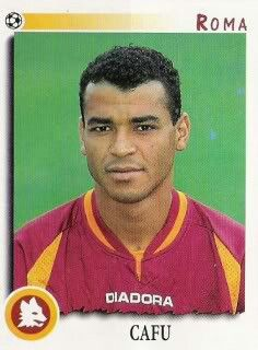 Cafu of AS Roma & Brazil in 1997.