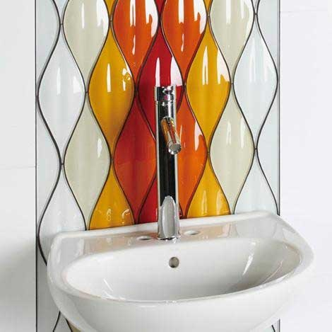 Evit; Glazed ceramic 'Passion' Tiles.
