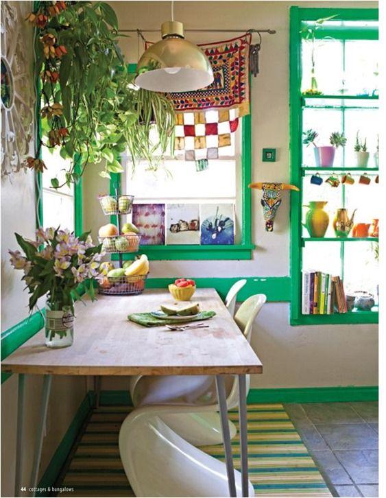 green painted trim justina blakeney