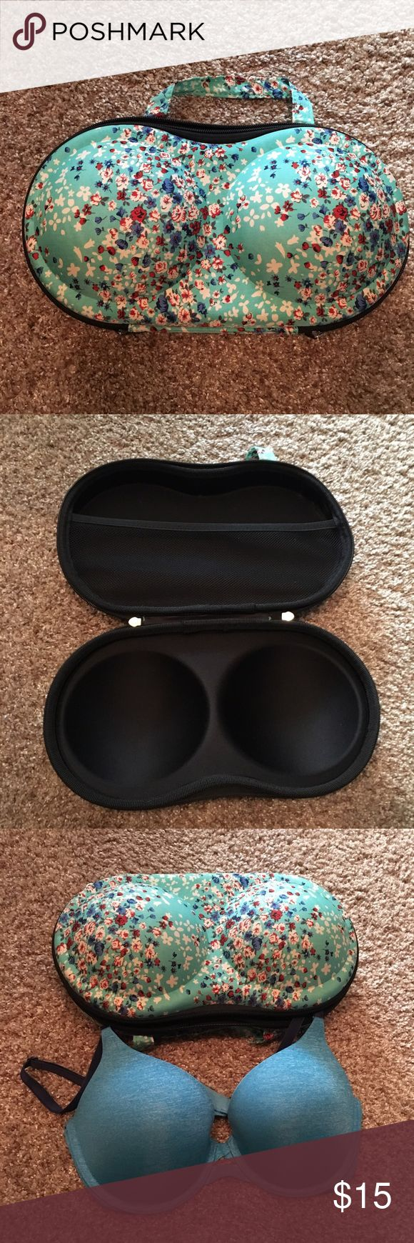 Bra luggage organizer NWOT bra luggage organizer. Fits about 2-3 bras and there's a mesh pocket to put your undies and/or socks. Too small for my bras, but I tried. Works for C cups and under. Other