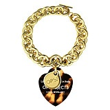 OPS! Love - Gold Plated Metal Bracelet With Leopard Heart  #ilovetoshop  theshoppingchannel.com