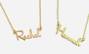 Groupon - Personalized Mini Name Necklace in Sterling Silver from MonogramOnline.com in [missing {{location}} value]. Groupon deal price: $20