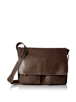 Oliberte Men's Lapo Bag, Brown Yellow