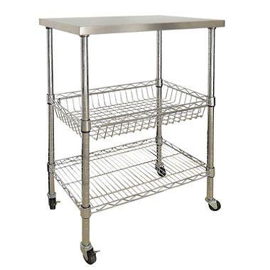 Sandusky 3-Shelf Stainless Steel Storage Cart