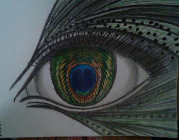 Peacock eye design