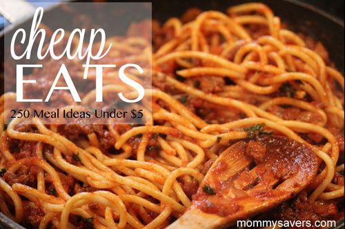 200 Meals Under $5- I just made a list of 10 meals with ideas from this site and have only looked at the first 3 pages.... there's 23 pages!!! Many of the ideas here I have adjusted to our personal taste and skill level but it's a great starting point!!!!