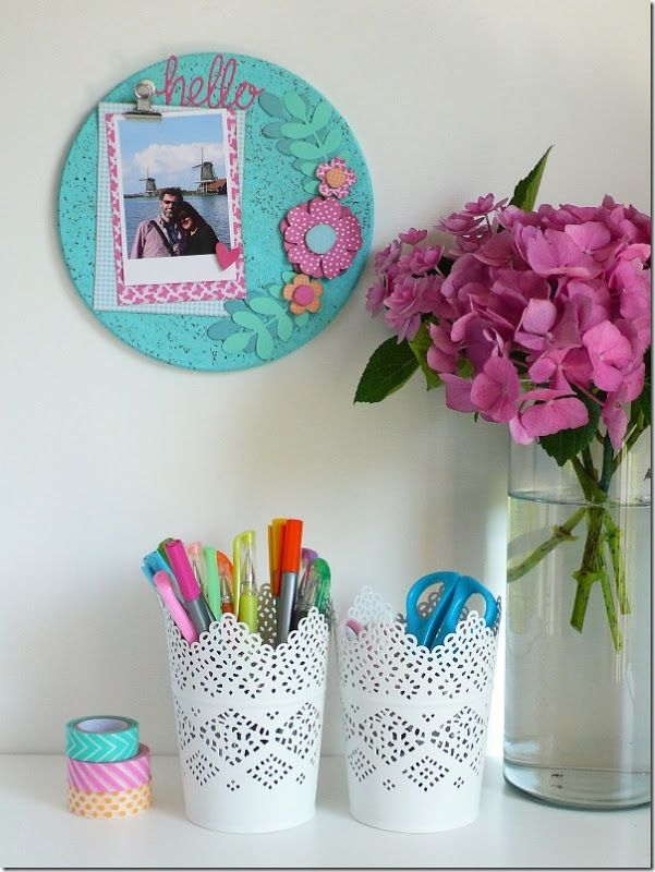 Add colour to your home with a bright memo pad! - Great for little reminders too.