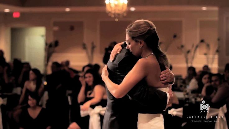 """Andrea had a very special dance with some very close family and friends at her wedding. Her father passed away so her brother recored """"butterfly kisses""""…"""
