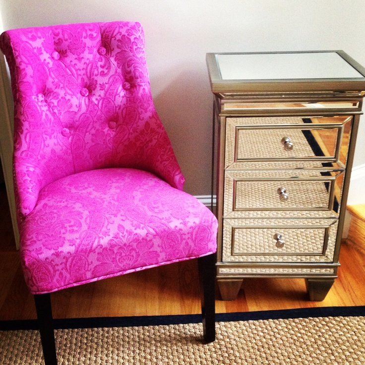 cynthia rowley chair and mirrored side table from homegoods more